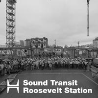 deselected thumbnail button of group photo of entire crew for the Sound Transit Roosevelt Station Tower Crane Dismantle project in Seattle