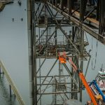 crew working on dock maintenance