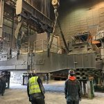 Omega Morgan crews onsite to replace a ladle turret at Cascade Steel Mills