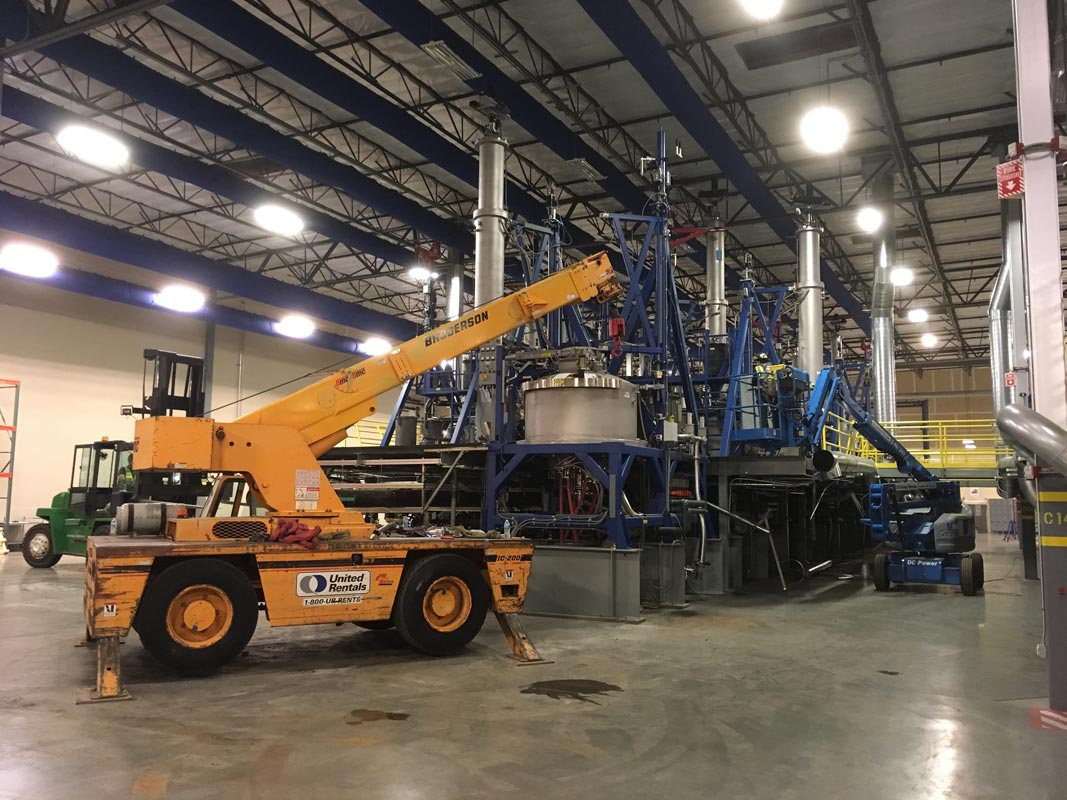 IC-200 Broderson Carry Deck onsite at GCL Grower's previous warehouse space