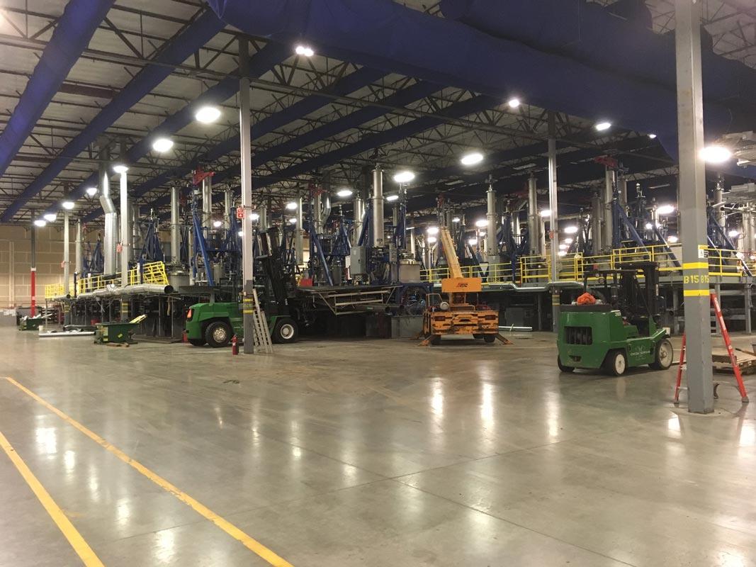 Omega Morgan machineru inside the GCL Growers warehouse site