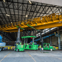 full color thumbnail of Placing bridge crane on top of tri-lifter with versa lifts