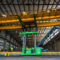 full color thumbnail of bridge crane lifted on tri lifter