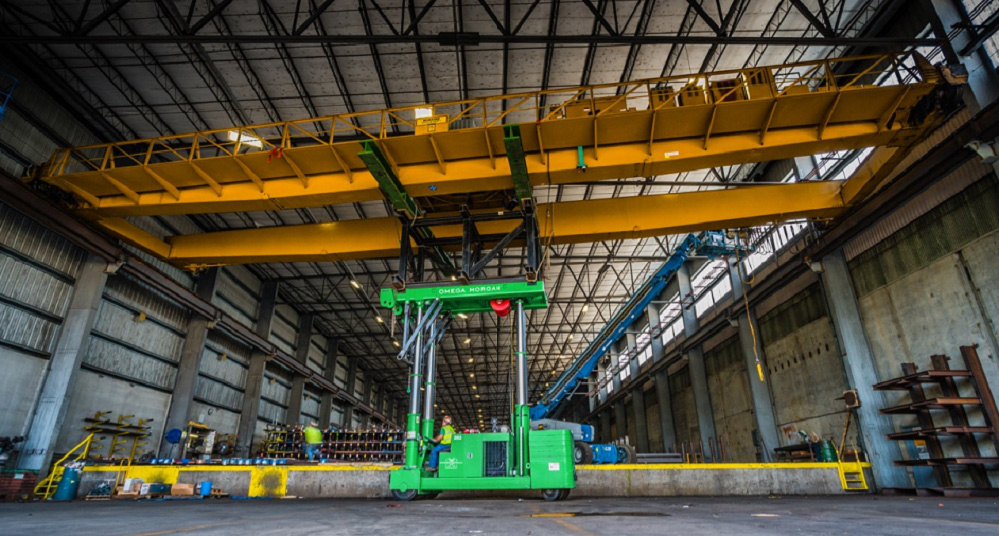 bridge crane lifted on tri lifter