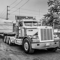 deselected thumbnail button of Semi truck delivering transformer at Vashon Island Substation