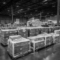 deselected thumbnail button of rows of organized boxes and equipment inside an omega morgan warehouse and storage facility