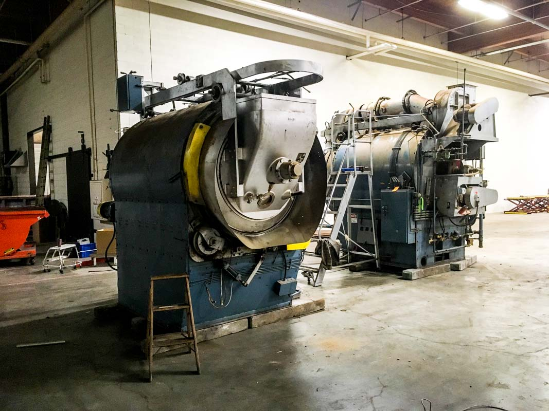machinery inside a Boyd's Coffee location acquired by Farmer's Brothers