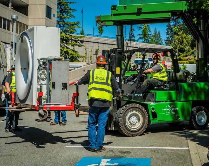 omega morgan crews moving MRI unit