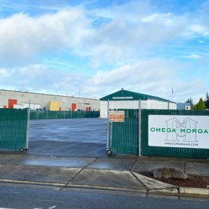 Omega Morgan North Seattle location yard entrance