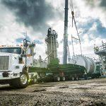 Preparing to rig up 170,000 lbs. vessel