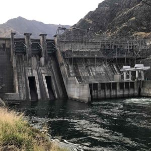 the Hell's Canyon Dam, between Idaho and Washington