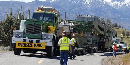 omega morgan oversize load going over mountain road