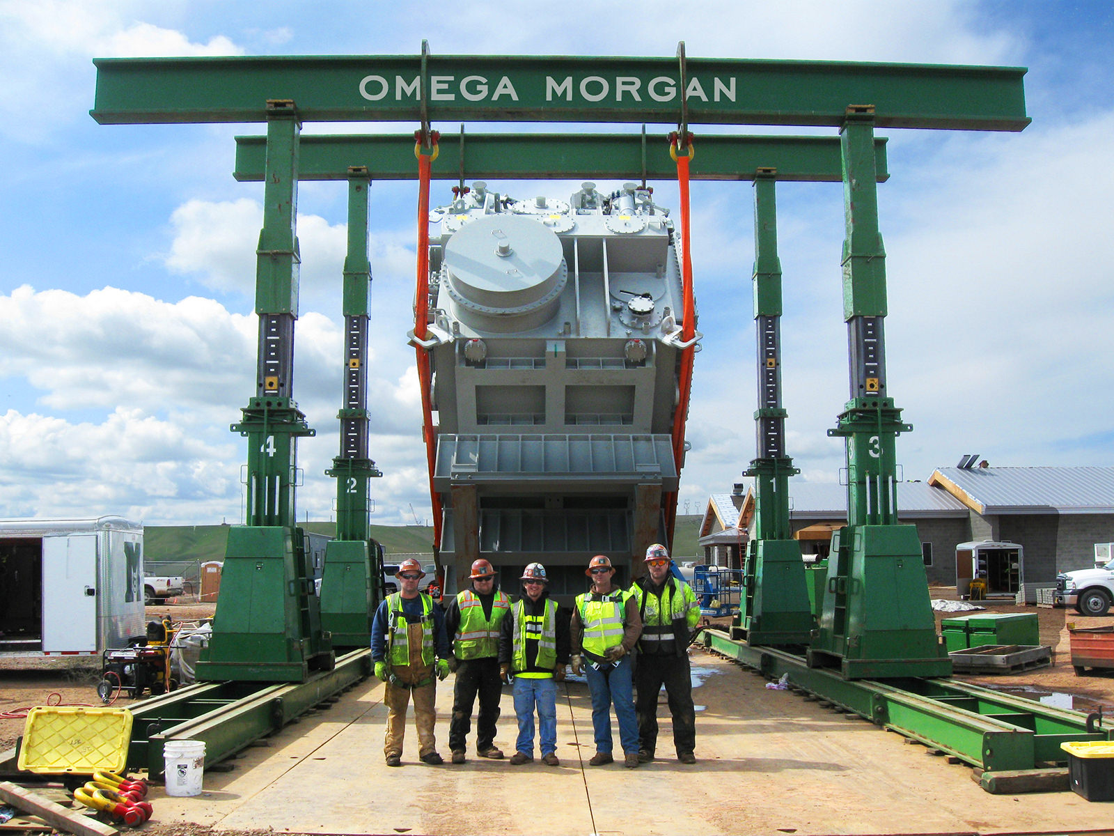 Uprighting 400,000lb transformer