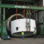Disassembling 180,000lb TBM section