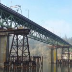 Sliding 3,400 ton Sellwood Bridge utilizing Omega Morgan heavy slide gear