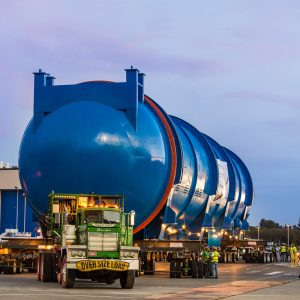 Transporting 1,000,000lb auto clave