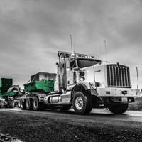deselected thumbnail button of Omega Morgan dual lane transporter on the road carrying one of the largest hot isostatic presses in the world