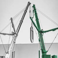 deselected thumbnail button of Omega Morgan crews with two five hundred fifty ton cranes lifting a piece of a hot isostatic press in Albany Oregon